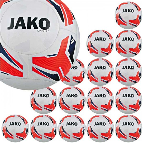Jako Match 2.0 Trainingsball 15er Ballpaket